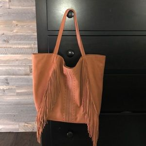 Lucky Brand Leather Fringe Tote